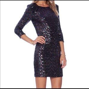 BB Dakota Sequin Dress (dark blue/purple)